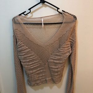 Free People Cropped Knit Top